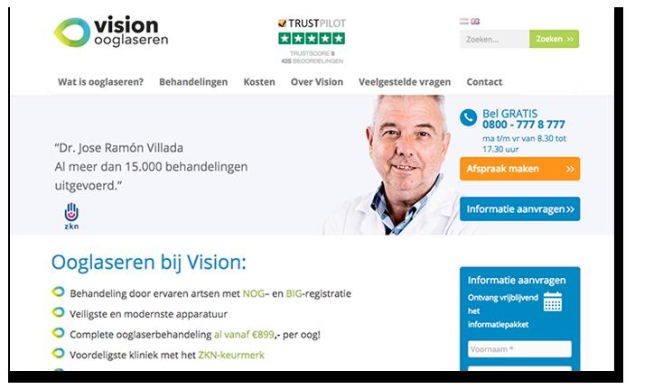 ooglaseren vision